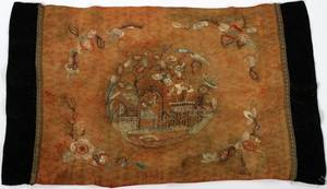 CHINESE SILK EMBROIDERY LATE 19TH C