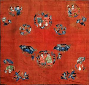 CHINESE SILK EMBROIDERY LATE 19THEARLY 20TH C