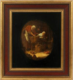 IN THE MANNER OF BENJAMIN CUYP OIL ON WOOD PANEL