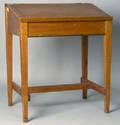 Pine slant lid work desk