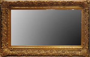 FRENCH STYLE GILT WOOD MIRROR