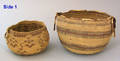 California Hupa polychromed twined basketry bowl 19th c