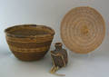 California twined basketry bowl 19th c