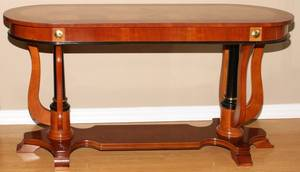 NEOCLASSICAL STYLE MAHOGANY CONSOLE