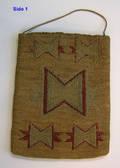 Woven purse ca 1900 probably California