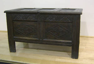 Jacobean oak blanket chest late 17th c