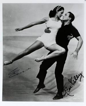 GENE KELLY  CYD CHARISSE AUTOGRAPHED PHOTO