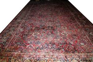SAROUK WOOL PERSIAN CARPET SEMIANTIQUE