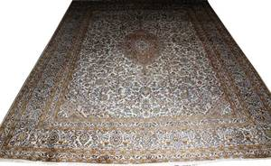 KASHMAR PERSIAN HAND KNOTTED WOOL CARPET C1950
