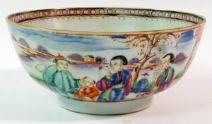 CHINESE EXPORT PORCELAIN BOWL 19TH C