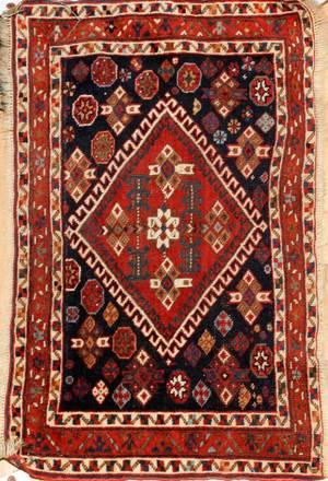 PERSIAN TURKOMAN WOOL MAT C 19201950