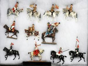 MOUNTED LEAD TOY SOLDIER FIGURES ON HORSEBACK 11