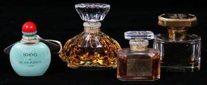 BACCARAT  FRENCH CRYSTAL PERFUME BOTTLES FOUR