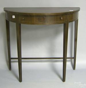 Federal style mahogany demilune table by Imperial