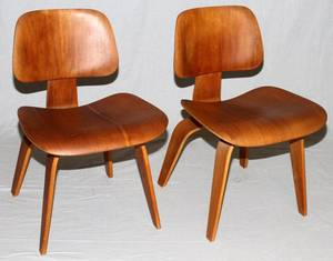 CHARLES EAMES FOR HERMAN MILLER TEAKWOOD CHAIRS