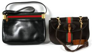 GUCCI LEATHER SHOULDER BAGS TWO