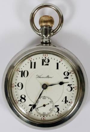 HAMILTON WATCH COMPANY MODEL 924 POCKET WATCH C1910