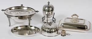 SHEFFIELD PLATE ENTRE SERVER EGG CODDLER  OTHER