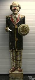 Carved and polychrome circus figure of a clown 20th c
