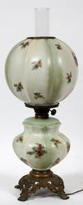 GONE W THE WIND HURRICANE TABLE LAMP 19TH C