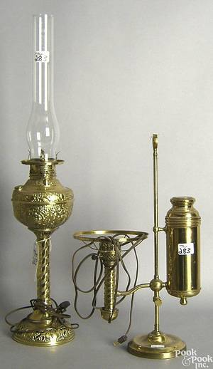 Brass student lamp