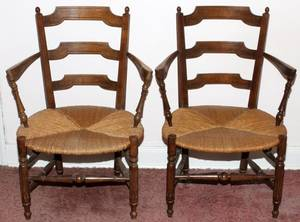 FRENCH COUNTRY STYLE CHAIRS C 1960 THREE