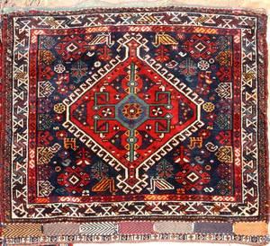 PERSIAN TURKOMAN WOOL MAT C 19501980