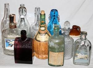 VINTAGE GLASS BOTTLE AND STONE WARE COLLECTION 15