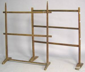 Tiger maple quilt rack