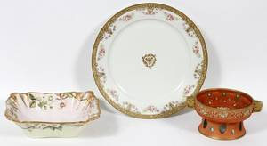 NIPPON  LIMOGES HAND PAINTED PORCELAIN 4 PIECES