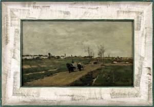 ANTON MAUVE DUTCH 18381888 OIL ON WOOD PANEL