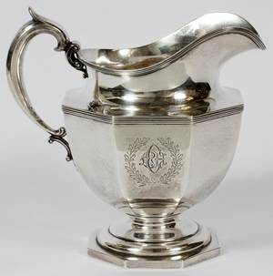DURGIN STERLING WATER PITCHER EARLY 20TH C