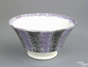 Bright purple and black rainbow spatter bullseye waste bowl