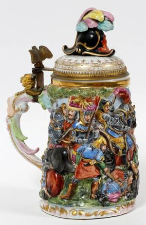 GERMAN PORCELAIN STEIN C 1900