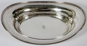 TIFFANY  CO STERLING BREAD TRAY C 1915