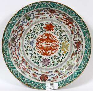 CHINESE EXPORT PORCELAIN CHARGER C1900