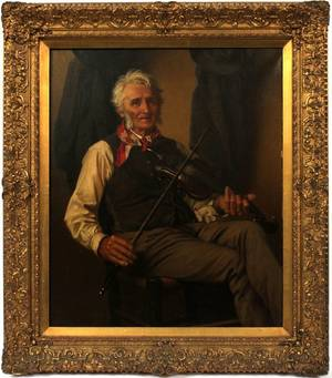 JOHN GEORGE BROWN OIL ON CANVAS