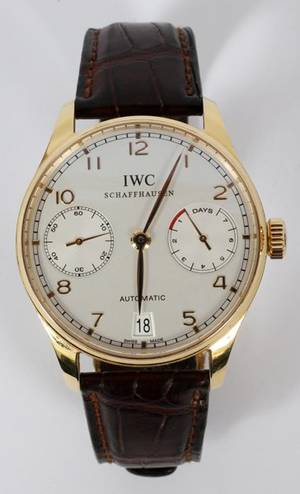 IWC SCHAFFHAUSEN 18KT YELLOW GOLD WRISTWATCH