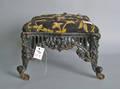 Victorian cast iron stool