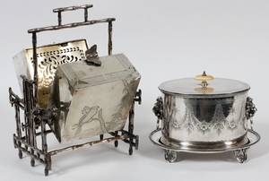 VICTORIAN ELECTROPLATE SILVER BISCUIT WARMER  BOX