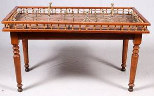 ENGLISH SKITTLES GAME TABLE LATE 19THEARLY 20TH C