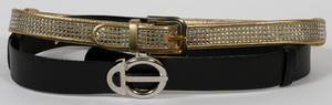 JUDITH LEIBER CRYSTAL  LEATHER BELTS TWO