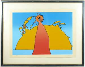 Peter Max Signed Serigraph His Own Eclipse