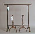 Wrought iron crane stand