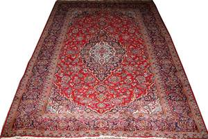 SAROUK HAND WOVEN WOOL PERSIAN RUG MID 20 TH C