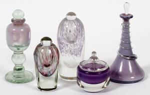 CONTEMPORARY ART GLASS PERFUME BOTTLES C 197981