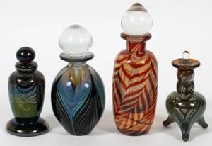 CONTEMPORARY ART GLASS PERFUME BOTTLES C 1980