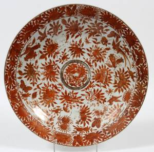 CHINESE EXPORT PORCELAIN CHARGER 18TH C