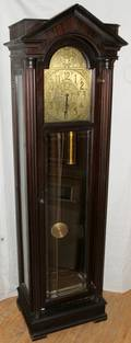 NEOCLASSICAL STYLE MAHOGANY GRANDFATHER CLOCK
