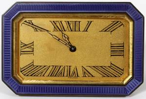 FRENCH ENAMEL TRAVEL CLOCK EARLY 20TH C